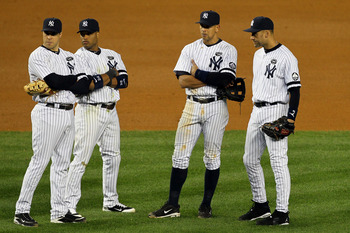 How many Hall of Fame infielders does it take to win a World Series Championship?