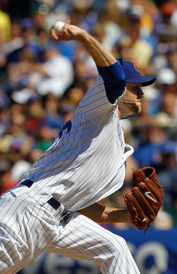CHICAGO - JUNE 30: Andrew Cashner #4 of the Chicago Cubs pitches against the Pittsburgh Pirates at Wrigley Field on June 30, 2010 in Chicago, Illinois. The Pirates defeated the Cubs 2-0. (Photo by Jonathan Daniel/Getty Images)