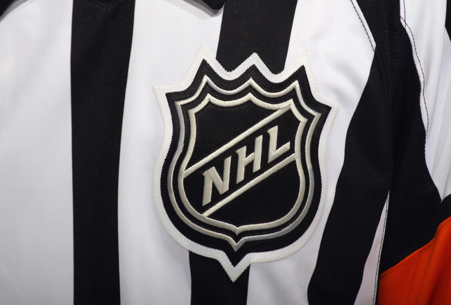 BUFFALO, NY - NOVEMBER 03: A close up view referees uniform photographed during the game between the Boston Bruins and the Buffalo Sabres at the HSBC Arena on November 3, 2010 in Buffalo, New York. The Bruins defeated the Sabres 5-2.  (Photo by Bruce Benn