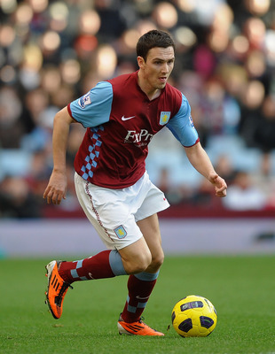 BIRMINGHAM, ENGLAND - FEBRUARY 26: Stewart Downing of Aston Villa in action during the Barclays Premier League match between Aston Villa and Blackburn Rovers at Villa Park on February 26, 2011 in Birmingham, England.  (Photo by Laurence Griffiths/Getty Im