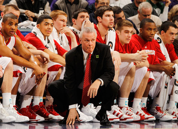 INDIANAPOLIS - MARCH 12:  Head coach Bo Ryan of the Wisconsin Badgers watches game action against the Illinois Fighting Illini during the quarterfinals of the Big Ten Men's Basketball Tournament at Conseco Fieldhouse on March 12, 2010 in Indianapolis, Ind
