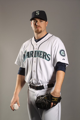 PEORIA, AZ - FEBRUARY 20:  Shawn Kelley #23 of the Seattle Mariners poses for a portrait at the Peoria Sports Complex on February 20, 2011 in Peoria, Arizona.  (Photo by Ezra Shaw/Getty Images)