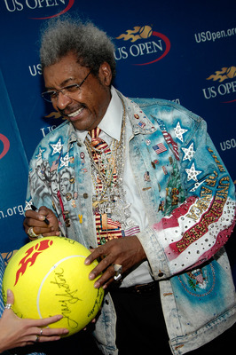 FLUSHING, NY - SEPTEMBER 07:  Don King arrives for the Buzz Party before the women's singles final on day 14 of the 2008 U.S. Open at the Billie Jean King National Tennis Center on September 7, 2008 in the Flushing neighborhood of the Queens borough of Ne