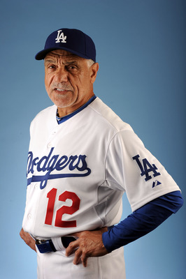 GLENDALE, AZ - FEBRUARY 25:  Davey Lopes #12 of the Los Angeles Dodgers poses for a photo on photo day at Camelback Ranch on February 25, 2011 in Glendale, Arizona.  (Photo by Harry How/Getty Images)