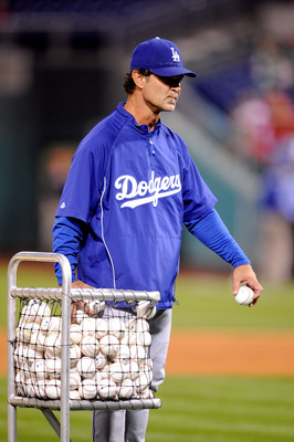 PHILADELPHIA - OCTOBER 09:  Hitting Coach Don Mattingly #8 of the Los Angeles Dodgers participates in batting practice before Game One of the National League Championship Series against the Philadelphia Phillies during the 2008 MLB playoffs on October 9,