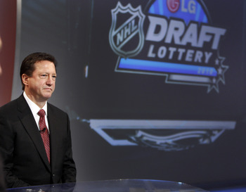 TORONTO - APRIL 13: Edmonton Oilers GM Steve Tambellini awaits the announcement for the first overall pick during the NHL Draft Lottery Drawing at the TSN Studio April 13, 2010 in Toronto, Ontario, Canada. (Photo by Abelimages / Getty Images for NHL)