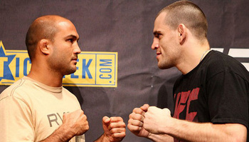 BJ Penn and Jon Fitch before their first fight