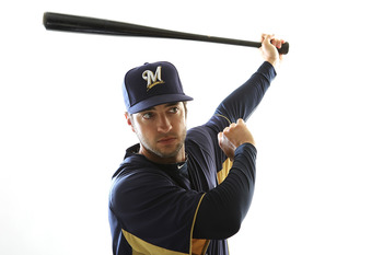 MARYVALE, AZ - FEBRUARY 24:  Ryan Braun #8 of the Milwaukee Brewers poses for a portrait during Spring Training Media Day on February 24, 2011 at Maryvale Stadium in Maryvale, Arizona.  (Photo by Jonathan Ferrey/Getty Images)