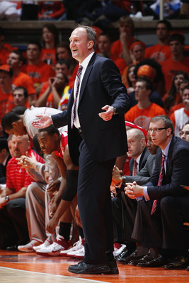 CHAMPAIGN, IL - JANUARY 22: Ohio State Buckeyes head coach Thad Matta looks on against the Illinois Fighting Illini at Assembly Hall on January 22, 2011 in Champaign, Illinois. Ohio State won 73-68. (Photo by Joe Robbins/Getty Images)