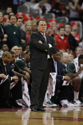 COLUMBUS, OH - FEBRUARY 15:  Head coach Tom Izzo of the Michigan State Spartans looks on while playing the Ohio State Buckeyes on February 15, 2011 at Value City Arena in Columbus, Ohio.  (Photo by Gregory Shamus/Getty Images)