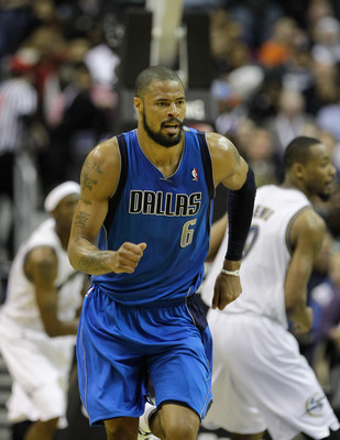 WASHINGTON, DC - FEBRUARY 26: Tyson Chandler #6 of the Dallas Mavericks against the Washington Wizards at the Verizon Center on February 26, 2011 in Washington, DC. NOTE TO USER: User expressly acknowledges and agrees that, by downloading and or using thi
