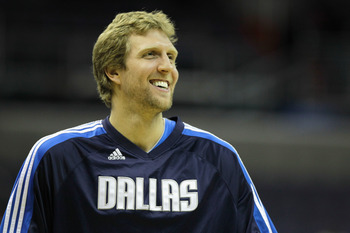 WASHINGTON, DC - FEBRUARY 26: Dirk Nowitzki #41 of the Dallas Mavericks before the start of a NBA basketball game against the Washington Wizards at the Verizon Center on February 26, 2011 in Washington, DC. NOTE TO USER: User expressly acknowledges and ag