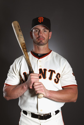 SCOTTSDALE, AZ - FEBRUARY 23:  Aaron Rowand #33 of the San Francisco Giants poses for a portrait during media photo day at Scottsdale Stadium on February 23, 2011 in Scottsdale, Arizona.  (Photo by Ezra Shaw/Getty Images)