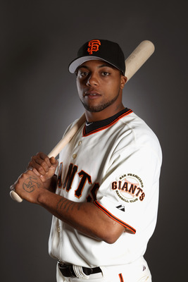 SCOTTSDALE, AZ - FEBRUARY 23:  Darren Ford #34 of the San Francisco Giants poses for a portrait during media photo day at Scottsdale Stadium on February 23, 2011 in Scottsdale, Arizona.  (Photo by Ezra Shaw/Getty Images)