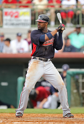 KISSIMMEE, FL - MARCH 01: Jason Heyward #22 of the Atlanta Braves bats during a Spring Training game against the Houston Astros at Osceola County Stadium on March 1, 2011 in Kissimmee, Florida.  (Photo by Mike Ehrmann/Getty Images)