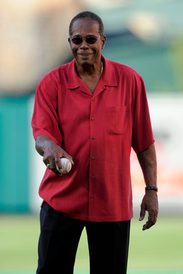 ANAHEIM, CA - JULY 13:  Baseball Hall of Fame member Rod Carew throws out the first pitch during the 81st MLB All-Star Game at Angel Stadium of Anaheim on July 13, 2010 in Anaheim, California.  (Photo by Mark J. Terrill-Pool/Getty Images)