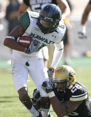 With the departures of senior wideouts Kealoha Pilares and Greg Salas, 2011 is the year for Pollard to step up as the go-to option in the Hawaii passing game.