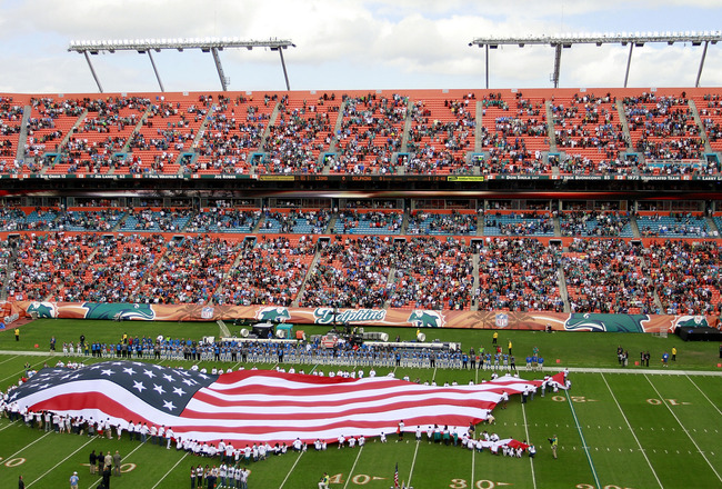 MIAMI - DECEMBER 26:  Fans attend the Miami Dolphins against the Detroit Lions at Sun Life Stadium on December 26, 2010 in Miami, Florida. The Lions defeated the Dolphins 34-27.  (Photo by Marc Serota/Getty Images)