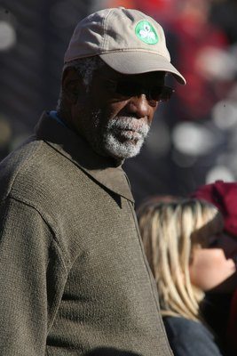 LOS ANGELES - DECEMBER 1:  NBA Hall of Famer and Boston Celtic legend Bill Russell watches the play from the USC Trojans sideline during the game against the UCLA Bruins on December 1, 2007 at the Los Angeles Memorial Coliseum in Los Angeles, California.