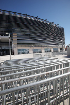 EAST RUTHERFORD, NJ - MARCH 03:  Gates sit outside of the New Meadowlands Stadium, home of the NFL's New York Jets and New York Giants, March 3, 2011 in East Rutherford, New Jersey. Last minute negotiations between the NFL owners and its players union are
