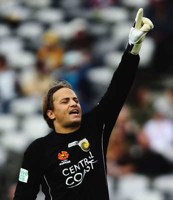 GOSFORD, AUSTRALIA - JULY 27:  Mark Bosnich of the Mariners organises his wall prior to a Sydney free kick during the A-League Pre-Season Cup match between the Central Coast Mariners and Sydney FC at Central Coast Bluetounge Stadium on July 27, 2008 in Go