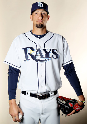 FT. MYERS, FL - FEBRUARY 22:  Dane De La Rosa #49 of the Tampa Bay Rays poses for a portrait during the Tampa Bay Rays Photo Day on February 22, 2011 at the Charlotte Sports Complex in Port Charlotte, Florida.  (Photo by Elsa/Getty Images)
