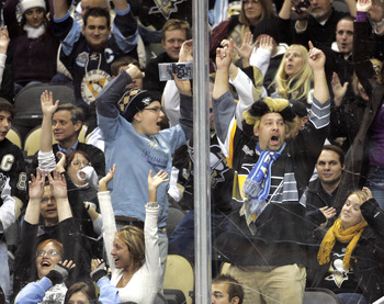 PITTSBURGH, PA - DECEMBER 08:  Pittsburgh Penguins fans do the wave against the Toronto Maple Leafs at Consol Energy Center on December 8, 2010 in Pittsburgh, Pennsylvania.  Penguins defeated the Maple Leafs 5-2.  (Photo by Justin K. Aller/Getty Images)