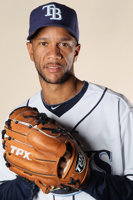 FT. MYERS, FL - FEBRUARY 22:  Juan Cruz #37 of the Tampa Bay Rays poses for a portrait during the Tampa Bay Rays Photo Day on February 22, 2011 at the Charlotte Sports Complex in Port Charlotte, Florida.  (Photo by Elsa/Getty Images)