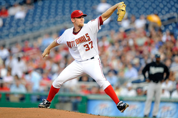 WASHINGTON - AUGUST 10:  Stephen Strasburg #37 of the Washington Nationals pitches against the Florida Marlins at Nationals Park on August 10, 2010 in Washington, DC.  (Photo by Greg Fiume/Getty Images)