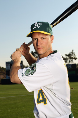 PHOENIX, AZ - FEBRUARY 24:  Mark Ellis #14 of the Oakland Athletics poses for a portrait during media photo day at Phoenix Municipal Stadium on February 24, 2011 in Phoenix, Arizona.  (Photo by Ezra Shaw/Getty Images)