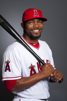 TEMPE, AZ - FEBRUARY 21: Howie Kendrick #47 of the Los Angeles Angels of Anaheim poses during their photo day at Tempe Diablo Stadium on February 21, 2011 in Tempe,Arizona. (Photo by Rob Tringali/Getty Images)