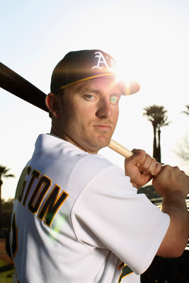 PHOENIX, AZ - FEBRUARY 24:  Cliff Pennington #2 of the Oakland Athletics poses for a portrait during media photo day at Phoenix Municipal Stadium on February 24, 2011 in Phoenix, Arizona.  (Photo by Ezra Shaw/Getty Images)
