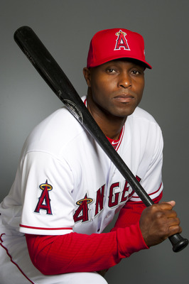 TEMPE, AZ - FEBRUARY 21: Torii Hunter #48 of the Los Angeles Angels of Anaheim poses during their photo day at Tempe Diablo Stadium on February 21, 2011 in Tempe, Arizona.  (Photo by Rob Tringali/Getty Images)