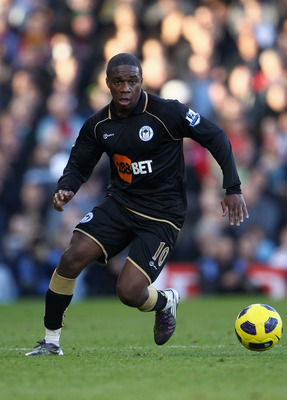 LONDON, ENGLAND - OCTOBER 30:  Charles N'Zogbia of Wigan in action during the Barclays Premier League match between Fulham and Wigan Athletic at Craven Cottage on October 30, 2010 in London, England.  (Photo by Julian Finney/Getty Images)