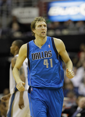 WASHINGTON, DC - FEBRUARY 26: Dirk Nowitzki #41 of the Dallas Mavericks at the Verizon Center on February 26, 2011 in Washington, DC. NOTE TO USER: User expressly acknowledges and agrees that, by downloading and or using this Photograph, user is consentin