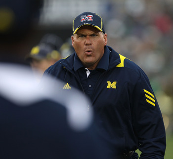 Coach Rich Rodriguez wasn't the brightest bulb in the Big House.