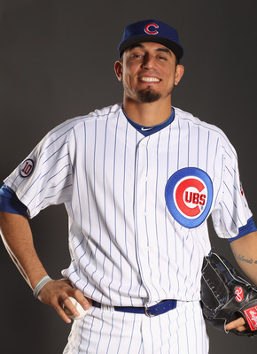 MESA, AZ - FEBRUARY 22:  Matt Garza #17 of the Chicago Cubs poses for a portrait during media photo day at Finch Park on February 22, 2011 in Mesa, Arizona.  (Photo by Ezra Shaw/Getty Images)