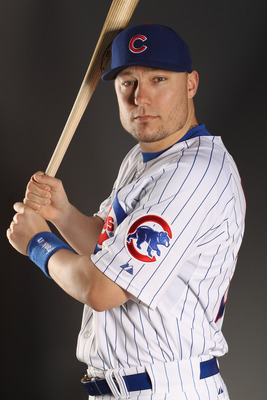MESA, AZ - FEBRUARY 22:  Jeff Baker #28 of the Chicago Cubs poses for a portrait during media photo day at Finch Park on February 22, 2011 in Mesa, Arizona.  (Photo by Ezra Shaw/Getty Images)