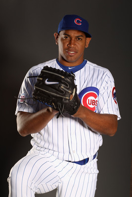 MESA, AZ - FEBRUARY 22:  Carlos Marmol #49 of the Chicago Cubs poses for a portrait during media photo day at Finch Park on February 22, 2011 in Mesa, Arizona.  (Photo by Ezra Shaw/Getty Images)