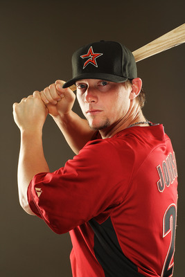 KISSIMMEE, FL - FEBRUARY 24:  Chris Johnson #23 of the Houston Astros poses for a portrait during Spring Training photo Day at Osceola County Stadium  on February 24, 2011 in Kissimmee, Florida.  (Photo by Al Bello/Getty Images)