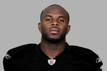 OAKLAND, CA - 2006:  Derrick Gibson of the Oakland Raiders poses for his 2006 NFL headshot at photo day in Oakland, California. (Photo by Getty Images)