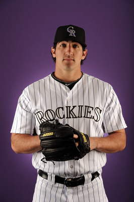 SCOTTSDALE, AZ - FEBRUARY 24:  Casey Weathers # 50 of the Colorado Rockies poses for a portrait during photo day at the Salt River Fields at Talking Stick on February 24, 2011 in Scottsdale, Arizona.  (Photo by Harry How/Getty Images)