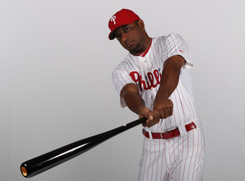 CLEARWATER, FL - FEBRUARY 22:  Ben Francisco #10 of the Philadelphia Phillies poses for a photo during Spring Training Media Photo Day at Bright House Networks Field on February 22, 2011 in Clearwater, Florida.  (Photo by Nick Laham/Getty Images)