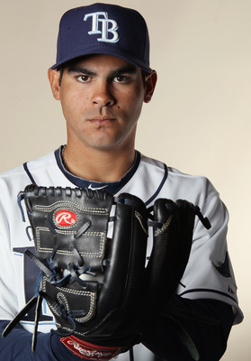 FT. MYERS, FL - FEBRUARY 22:  Alex Torres #56 of the Tampa Bay Rays poses for a portrait during the Tampa Bay Rays Photo Day on February 22, 2011 at the Charlotte Sports Complex in Port Charlotte, Florida.  (Photo by Elsa/Getty Images)
