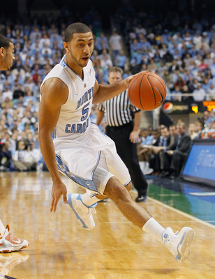 GREENSBORO, NC - DECEMBER 18:  Kendall Marshall #5 of the North Carolina Tar Heels against the Texas Longhorns at Greensboro Coliseum on December 18, 2010 in Greensboro, North Carolina.  (Photo by Kevin C. Cox/Getty Images)