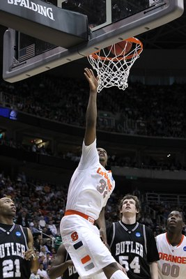 SALT LAKE CITY - MARCH 25:  Kris Joseph #32 of the Syracuse Orange in action against the Butler Bulldogs during the west regional semifinal of the 2010 NCAA men's basketball tournament at the Energy Solutions Arena on March 25, 2010 in Salt Lake City, Uta