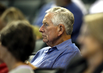 HOUSTON - SEPTEMBER 19:  Houston Astros owner Drayton McLane, Jr. watches from  his seats at Minute Maid Park on September 19, 2010 in Houston, Texas.  (Photo by Bob Levey/Getty Images)
