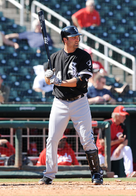 GOODYEAR, AZ - MARCH 02:  Paul Konerko #14 of the Chicago White Sox stands in the batters box against the Cincinnati Reds during a spring training game at Goodyear Ballpark on March 2, 2011 in Goodyear, Arizona.  (Photo by Norm Hall/Getty Images)