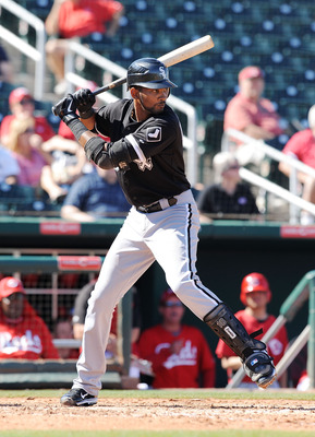 GOODYEAR, AZ - MARCH 02:  Alexi Ramirez #10 of the Chicago White Sox gets ready in the batters box against the Cincinnati Reds during a spring training game at Goodyear Ballpark on March 2, 2011 in Goodyear, Arizona.  (Photo by Norm Hall/Getty Images)