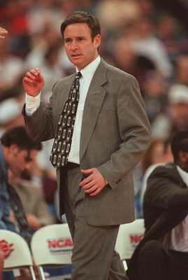 16 Mar 1996:  Head coach Ben Braun of the Eastern Michigan Eagles  walks the sideline as he looks on during the Eagles 95-81 loss to the UConn Huskies in the second round of the NCAA East Regional Tournament held in Indianapolis, Indiana.   Mandatory Cred